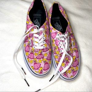 VANS | Princess Peach Mario Sneakers sz 8
